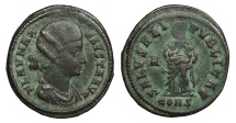Ancient Coins - Fausta, wife of Constantine 307-326 A.D. Follis Constantinople Mint Near VF