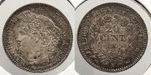 World Coins - FRANCE: 1850-A 20 Centimes