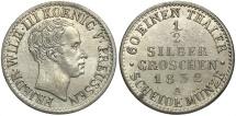 World Coins - GERMAN STATES: Prussia 1832-A 1/2 Groschen