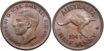 World Coins - AUSTRALIA: 1943 M 1/2 Penny