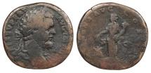 Ancient Coins - Septimius Severus 193-211 A.D. Sestertius Rome Mint Fine