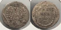 World Coins - GERMAN STATES: Brandenburg-Ansbach-Bayreuth 1803-B Kreuzer