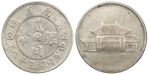 World Coins - CHINA Yunnan Yr. 38 (1949) 20 Cents AU
