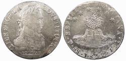 World Coins - BOLIVIA 1832-PTS JL 8 Soles UNC