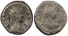 Ancient Coins - Egypt Alexandria Nero 54-68 A.D. Tetradrachm Alexandria Mint VF