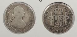 World Coins - PERU: 1806-LIMAE JP Charlse IV Real