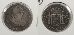 World Coins - PERU: 1800-LIMAE MJ Charles IV Real