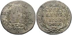 World Coins - GERMAN STATES: Hamburg 1762 1 Sechsling