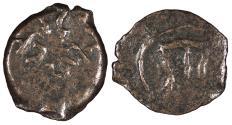 Ancient Coins - Judaea Herodian Dynasty Herod I (the Great) 40-4 B.C.E. Prutah Good Fine