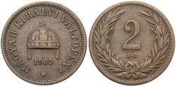 World Coins - HUNGARY: 1903 KB 2 Filler