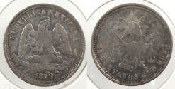 World Coins - MEXICO: 1879-Cn D 25 Centavos