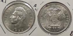 World Coins - ECUADOR: 1895-PHILADELPHIA TF 2 Decimos