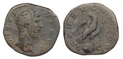 Ancient Coins - Lucius Verus 161-169 A.D. Sestertius Rome Mint Good Fine