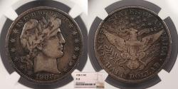 Us Coins - 1908-S Barber 50 Cents (Half Dollar) NGC F-12