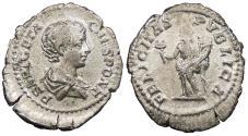 Ancient Coins - Geta, as Caesar 198-209 A.D. Denarius Rome Mint Good VF