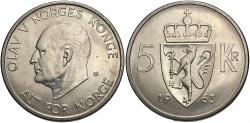 World Coins - NORWAY: 1963 5 Kroner