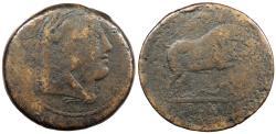 Ancient Coins - Anonymous 217-218 B.C. Quadrans Rome Mint About Fine