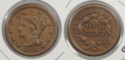 Us Coins - 1856 Braided Hair 1 Cent Slanted 5