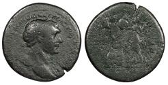 Ancient Coins - Trajan 98-117 A.D. Sestertius Rome Mint Fine