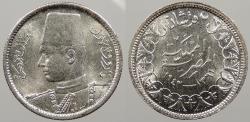 World Coins - EGYPT: AH 1361 / 1942 Farouk 2 Piastres