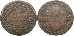 World Coins - GERMAN STATES: Munster Cathedral issue 1787 3 Pfennig