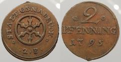 World Coins - GERMAN STATES: Osnabruck 1795 2 Pfenning
