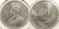World Coins - STRAITS SETTLEMENTS: 1920 50 Cents