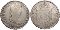 World Coins - GUATEMALA Ferdinand VII 1821-NG M 4 Reales VF