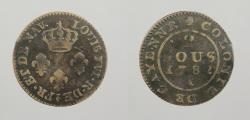 World Coins - FRENCH GUIANA: 1782-A 2 Sous