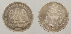 World Coins - MEXICO: 1886-Ch M 25 Centavos
