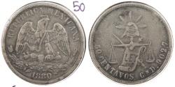World Coins - MEXICO: Culiacan 1880-Cn D 50 Centavos