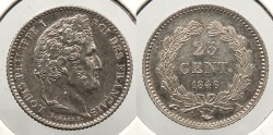 World Coins - FRANCE: 1846-A 25 Centimes