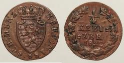 World Coins - GERMAN STATES: Nassau 1822 1/4 Kreuzer