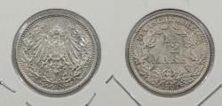 World Coins - GERMANY: 1907-G 1/2 Mark