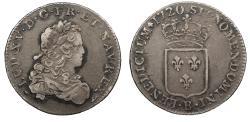 World Coins - FRANCE Louis XV 1720-B 1/3 ECU EF