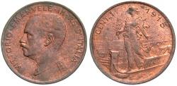 World Coins - ITALY: 1915 R 1 Centesimo