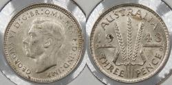World Coins - AUSTRALIA: 1943(m) 3 Pence