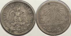 World Coins - MEXICO: 1919 20 Centavos