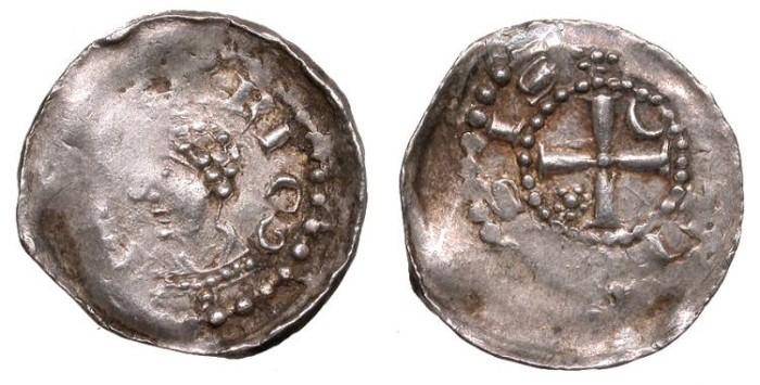 World Coins - FRANCE Metz Bishopric Frederick of Pluyose 1171-1173 Denier VF