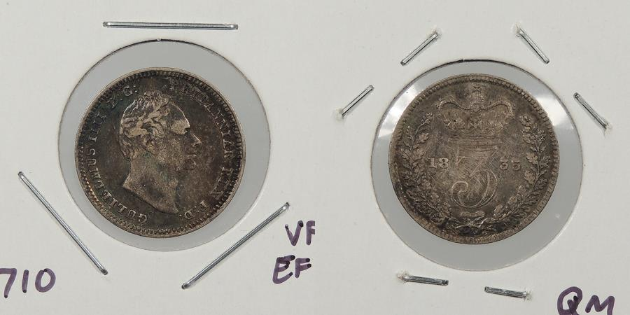 World Coins - GREAT BRITAIN: 1835 Threepence