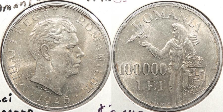 World Coins - ROMANIA: 1946 100000 Lei