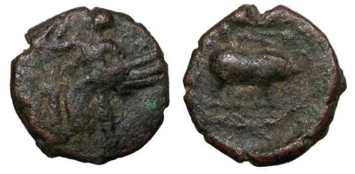 Ancient Coins - Attica Eleusis 322-307 B.C. AE14 VF