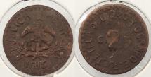 World Coins - MEXICO: Ocampo Puebla revolution 1915 2 Centavos