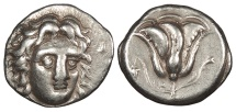 Ancient Coins - Caria Rhodes c. 394-304 B.C. Didrachm Near VF