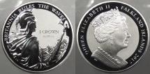 World Coins - FALKLAND ISLANDS: 2017 Error. 35th Anniversary of Falklands Liberation Crown