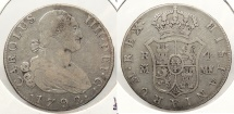 World Coins - SPAIN: 1792-M MF 4 Reales