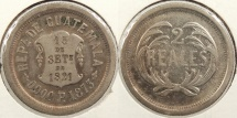 World Coins - GUATEMALA: 1873 2 Reales #WC63447