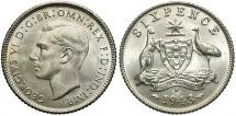 World Coins - AUSTRALIA: 1943-D 6 Pence