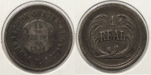 World Coins - GUATEMALA: 1872-P Real