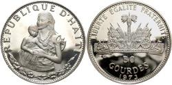 World Coins - HAITI: 1973 50 Gourdes